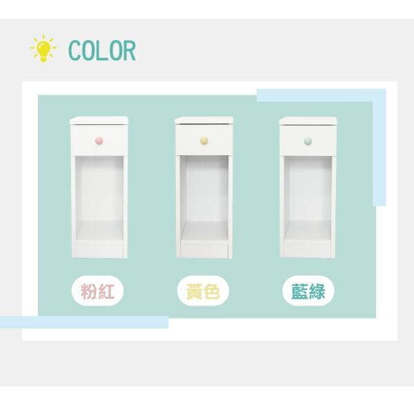 收納櫃 置物櫃 邊櫃 床頭櫃 馬卡龍系列日系床頭櫃(II)(單抽屜) (附插座) 天空樹生活館 9