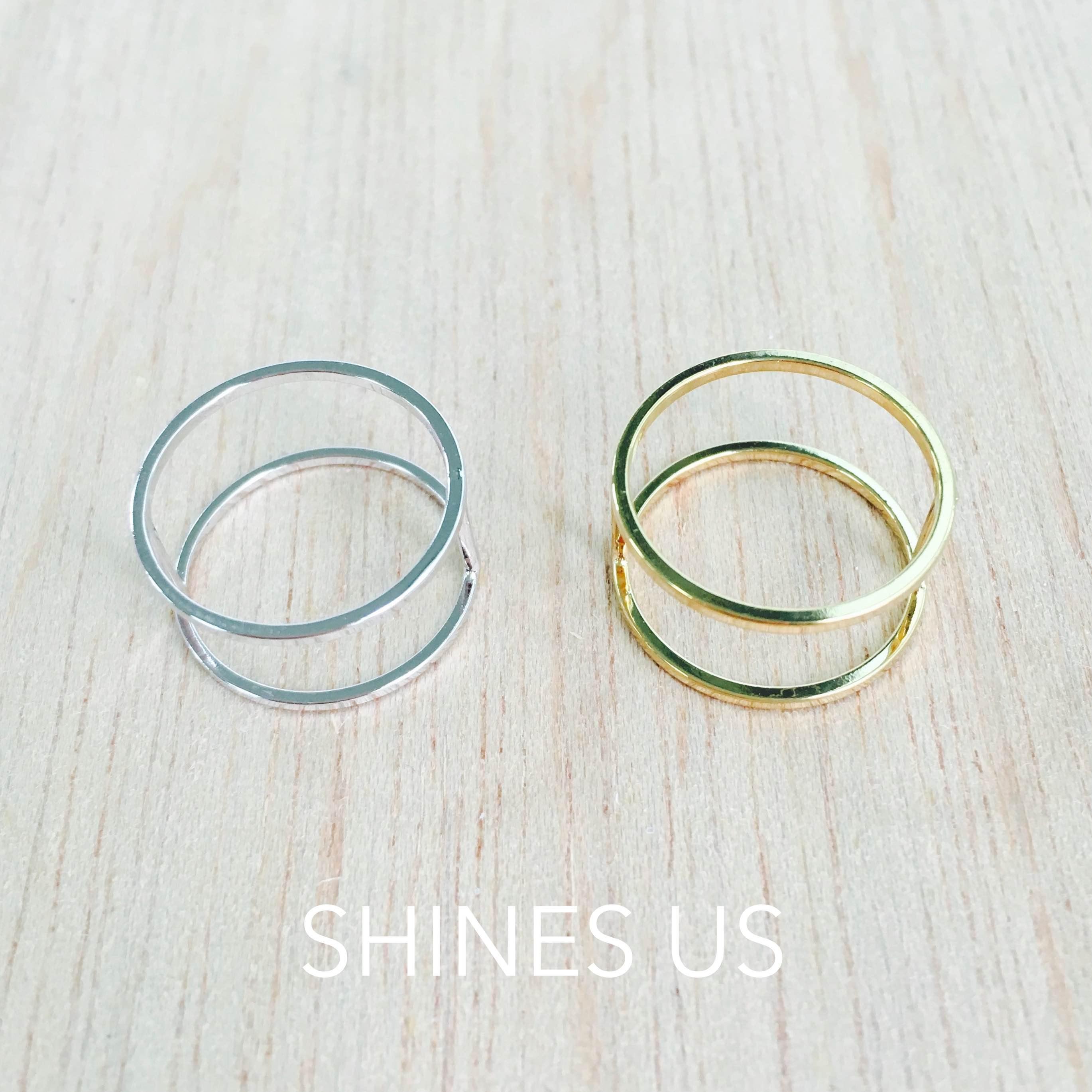【SHINES US】正韓 簡約雙環戒指 戒指