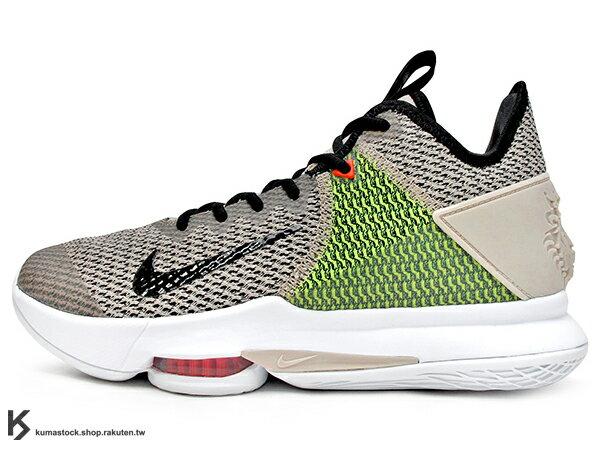 2019 NBA 小皇帝 JAMES 平價版子系列代言鞋款 NIKE LEBRON WITNESS IV 4 EP 淺卡其黑 螢光綠 前掌 ZOOM AIR 氣墊 耐磨橡膠底 (CD0188-200) 1019 0