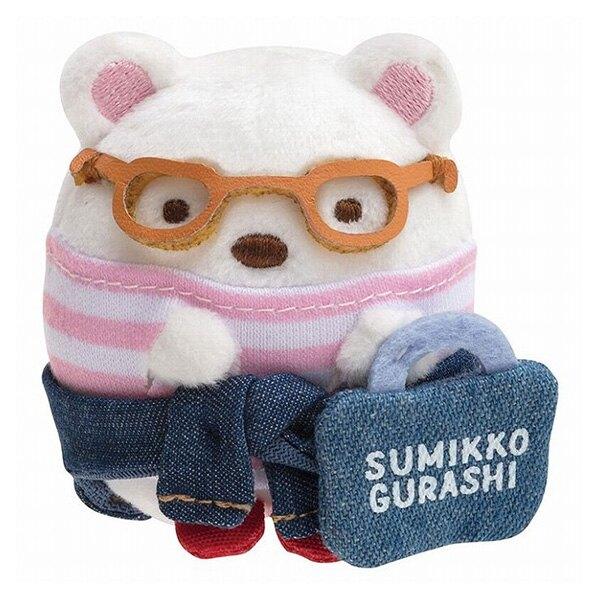 【角落生物 丹寧限定 迷你娃娃】角落生物 丹寧 迷你 手掌娃娃 絨毛玩偶 北極熊 日本正版 該該貝比日本精品
