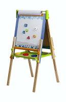 ECR4Kids 3-In-1 Wood Easel Chalkboard/Draw Board/Stand Set