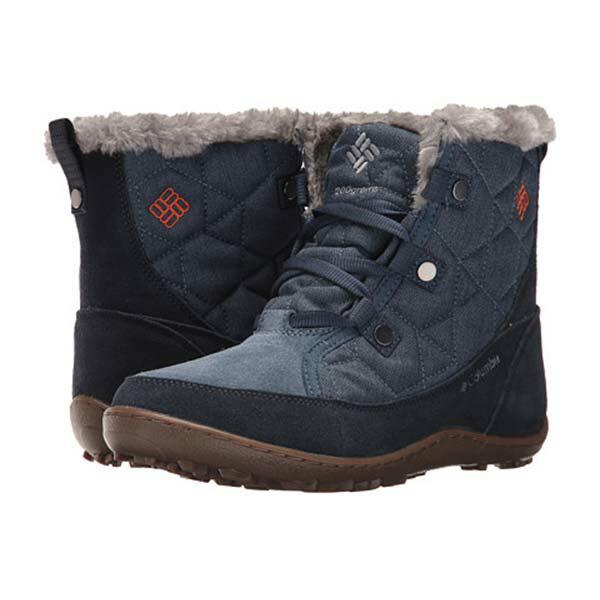 《台南悠活運動家》COLUMBIA UBL27580 防水保暖雪靴-墨藍色
