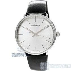 【錶飾精品】Calvin Klein CK 手錶 K8M211C6 巔峰系列 時尚雅痞大三針 銀白面黑色皮帶 男錶