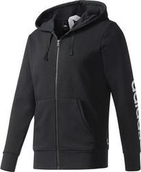[尋寶趣]ADIDAS 黑色 基本款 連帽外套 運動外套 運動長袖 男生 S98796