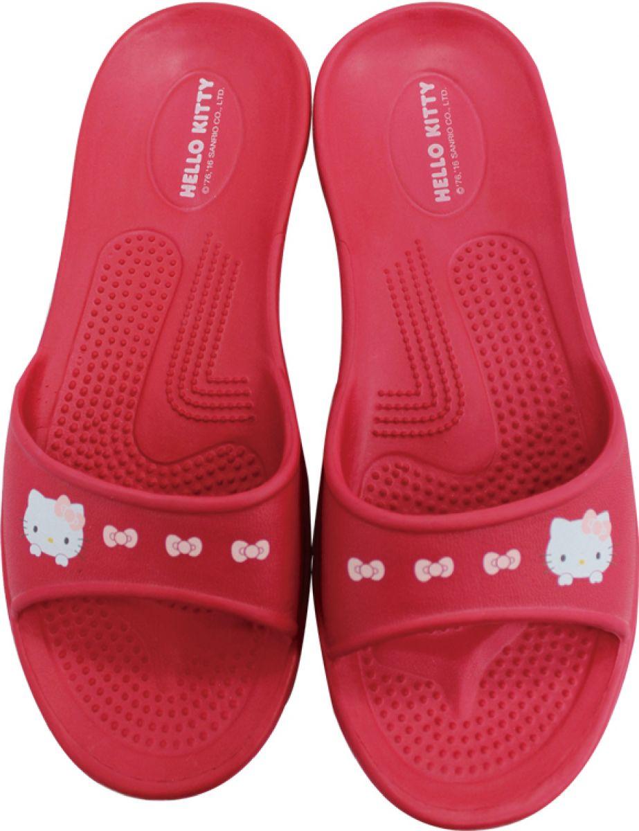 Hello Kitty 超輕量環保室內拖鞋 (紅)