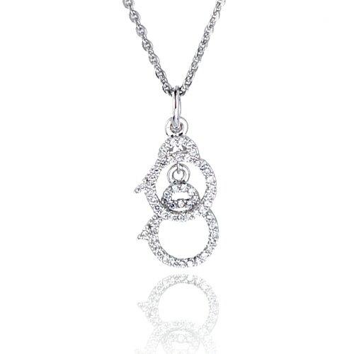 大東山珠寶 愛情手銬璀璨純銀項鍊 浪漫愛禮
