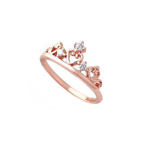 大東山珠寶 純銀甜心皇冠戒指 玫瑰金