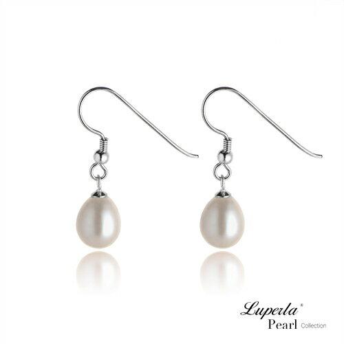 大東山珠寶 天然淡水珠銀勾水滴耳環 兩色