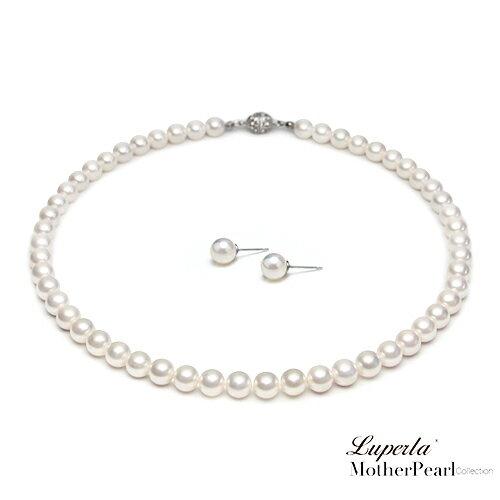 大東山珠寶 8mm南洋貝寶珠項鍊套組 白 0