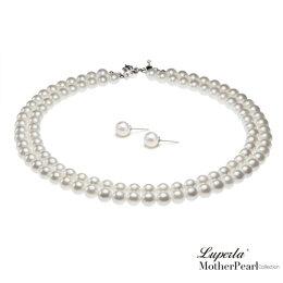 大東山珠寶 10mm南洋貝寶珠雙串項鍊套組 白