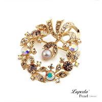 母親節禮物推薦大東山珠寶 珍珠胸針項鍊 法國巴黎 別針 領釦 圍巾提包裝飾