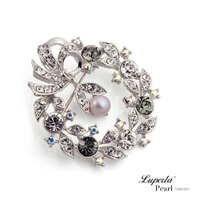 大東山珠寶 天然珍珠胸針項鍊 法國巴黎-大東山珠寶 luperla-流行女裝