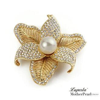 大東山珠寶 南洋貝寶珠胸針項鍊 巴黎時裝 別針 領釦 圍巾提包裝飾 2