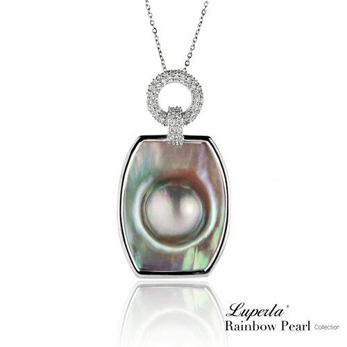 大東山珠寶 頂級彩虹珍珠晶璨寶石胸墜 永恆魅力
