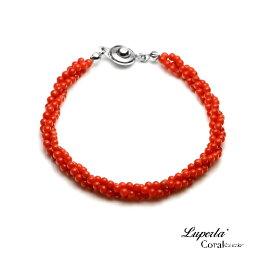大東山珠寶 天然全紅沙丁珊瑚手鍊3條轉