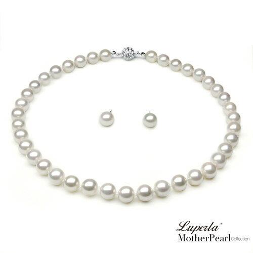 大東山珠寶 10mm南洋貝寶珠項鍊套組 白