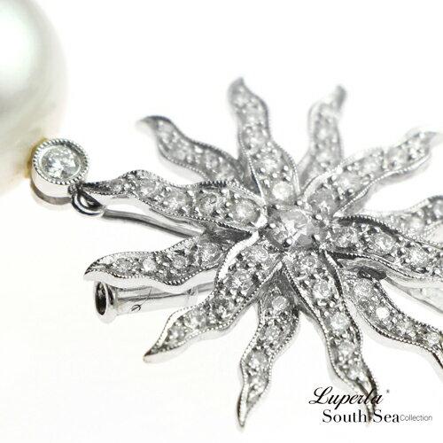 大東山珠寶 璀璨真鑽頂級南洋珠項鍊 愛是滿心溫暖 墜飾 胸針兩用款