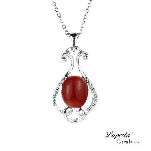 大東山珠寶 頂級天然阿卡珊瑚項鍊墬飾6017015014