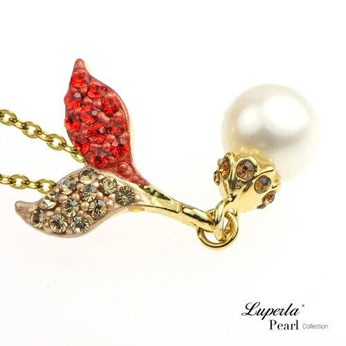 大東山珠寶 幸運魔豆苗晶鑽珍珠項鍊 部落客推薦甜美款 1