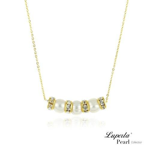 大東山珠寶 璀璨金鑽天然珍珠項鍊 自然燦爛