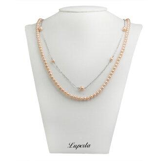 大東山珠寶 2層款式南洋貝寶珠長版項鍊-粉