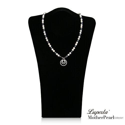 大東山珠寶 7mm南洋貝寶珠多層次變化款項鍊 尊爵灰 設計師旗艦版