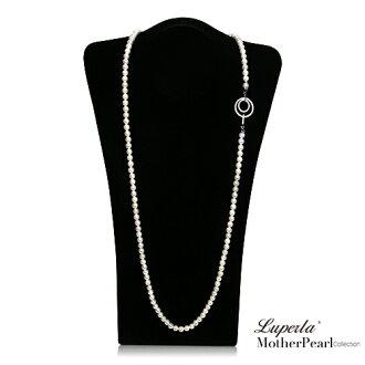 大東山珠寶 7mm南洋貝寶珠多層次變化長版項鍊 經典白 設計師旗艦版