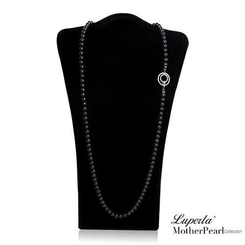 大東山珠寶 luperla 大東山珠寶 8mm南洋貝寶珠多層次變化長版項鍊 魅力黑 設計師旗艦版