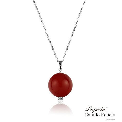 大東山珠寶 luperla:大東山珠寶納福東方紅珊瑚項鍊開運珊瑚紅