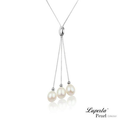 大東山珠寶 翡麗佳人 經典純銀珍珠墜飾