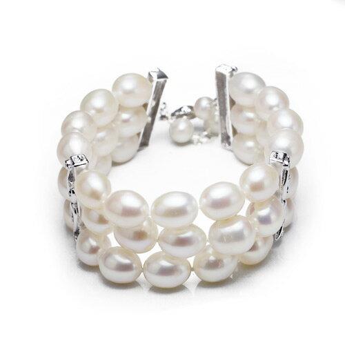大東山珠寶 luperla:大東山珠寶心手相攜天然淡水珍珠手鍊