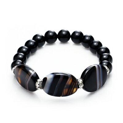 大東山珠寶 時尚簡約黑瑪瑙手鍊