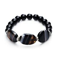 母親節禮物推薦飾品:項鍊、耳環、戒指、手環及手鍊到大東山珠寶 時尚簡約黑瑪瑙手鍊