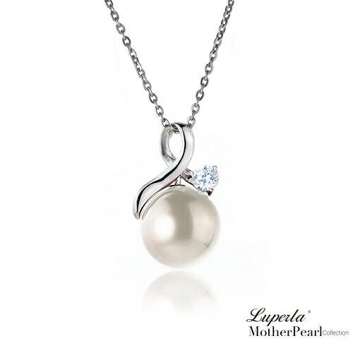 大東山珠寶 歐巴馬璀璨鑲鑽貝珠項鍊耳環套組 1