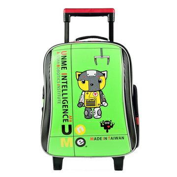 X射線【Cg3308c】UnMe基本款鏡面三段式拉桿書包(綠)3308台灣製造,開學必備/護脊書包/書包/後背包/背包/便當盒袋/書包雨衣/補習袋/輕量書包/拉桿書包