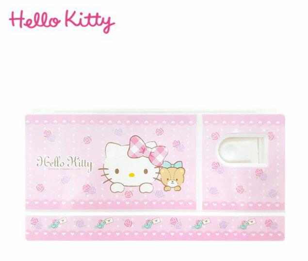 X射線【C255040】Hello Kitty 調色盤,自動鉛筆/開學用品/橡皮擦/卡通/鉛筆盒/筆袋