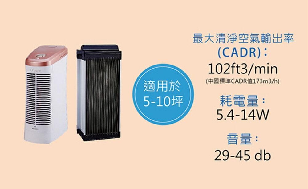《搭贈溫控快煮壺》Opure A7 mini 臻淨 免濾材 電漿殺菌靜電集塵DC直流節能 空氣清淨機 1