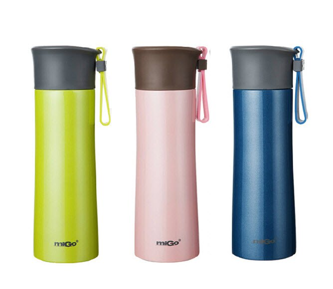 migo保溫杯 450ml 304不銹鋼內外 真空強效保溫  保溫壺/隨手杯 304不鏽鋼