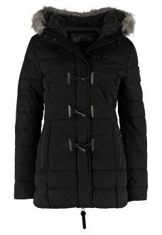 極度乾燥 Superdry PARKA 17年新款 保暖連帽毛領修身牛角扣外套大衣 女款 長版