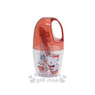 〔小禮堂〕Hello Kitty 日製旅行牙刷杯組《紅.回頭.唇印.拿信》攜帶方便可愛