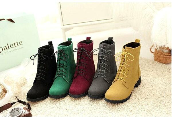 Pyf♥百搭基本款多色8孔馬丁短靴綁帶短靴角色扮演服裝搭配加大46大尺碼女鞋