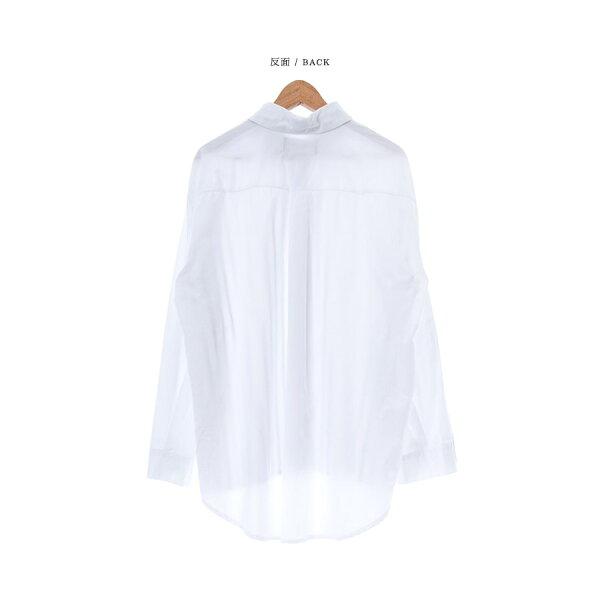 韓國製長袖襯衫拚接直條水洗【ST20212】-SAMPLE