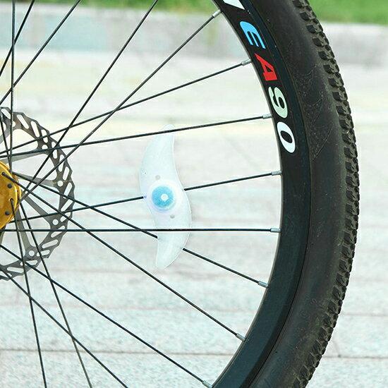 ●MY COLOR●夜騎自行風火輪車燈 裝飾燈 柳葉輻條燈 山地車 騎行配件 腳踏車 安全 燈 保護 【P636】