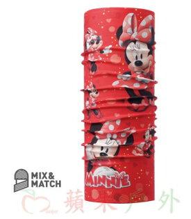 【【蘋果戶外】】BF115445西班牙BUFF魔術頭巾甜美米妮迪士尼授權MINNIE兒童小頭圍女孩女生