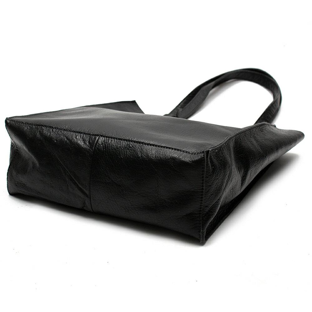 【BEIBAOBAO】氣質名媛牛皮壓紋肩背包(共兩色:  氣質黑) 4