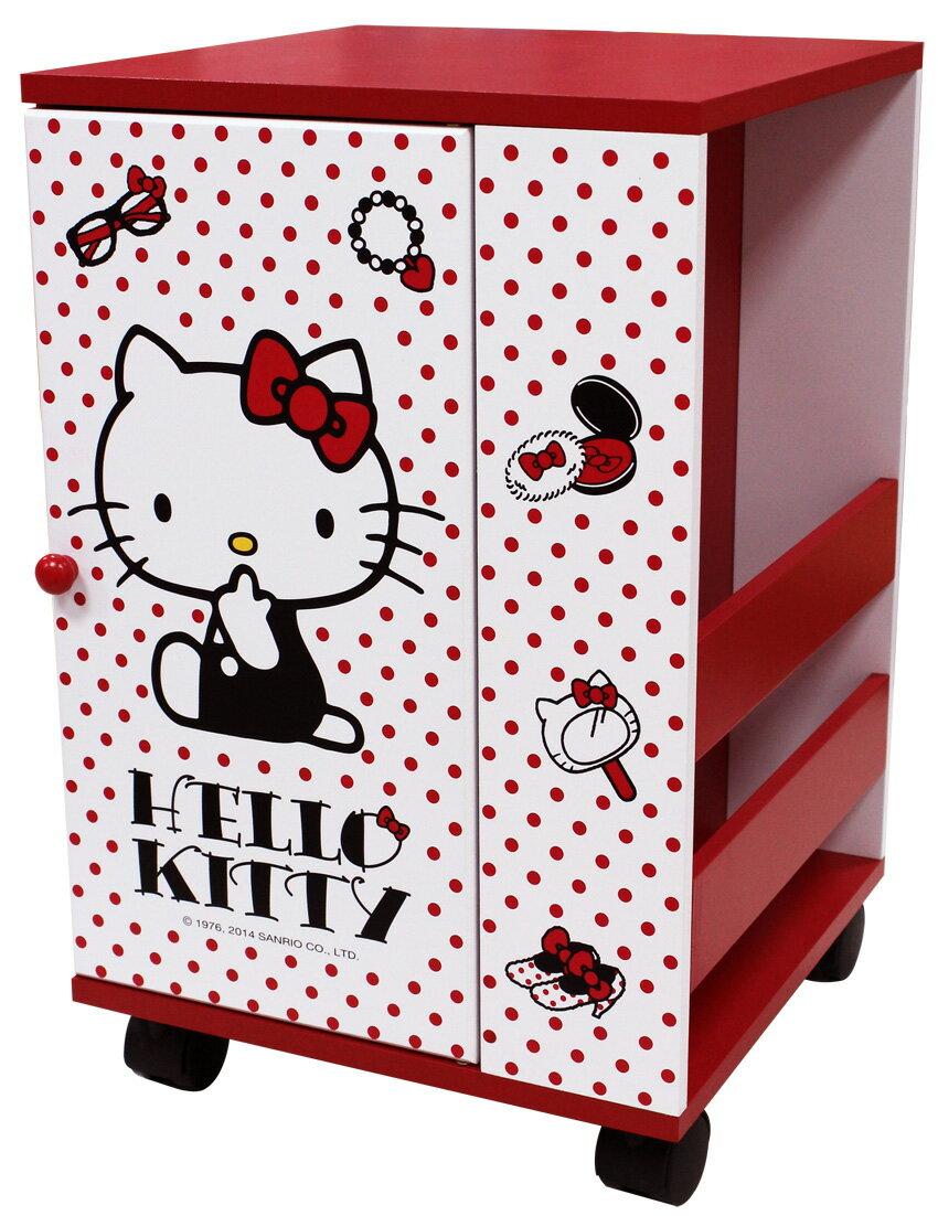 【真愛日本】15061500002 KT滾輪拉門雜誌櫃 三麗鷗 Hello Kitty 凱蒂貓 家具 收納櫃 正品 限量 預購