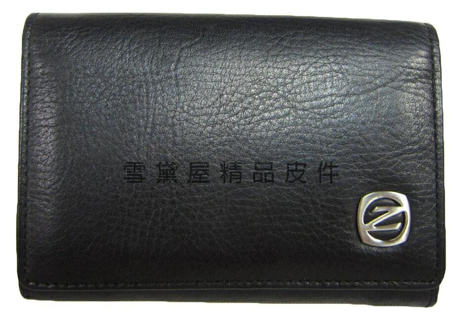 ~雪黛屋~ZODENCE 名片夾100%進口牛皮革材質輕便易攜帶標準尺寸設計名片多張證件Z23G212D01