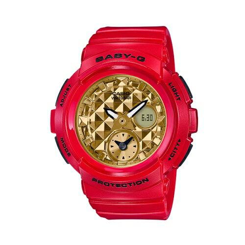 CASIO G-SHOCK & BABY-G 2018新春限定紅色對錶系列/BGA-195VLA-4A