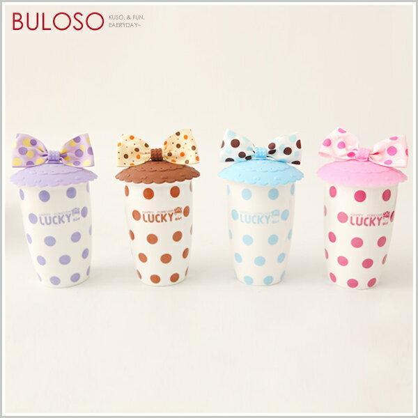 《不囉唆》4色幸運女孩雙層陶瓷杯 造型水杯 飲料杯 熱飲杯(不挑色/款)【A244251】