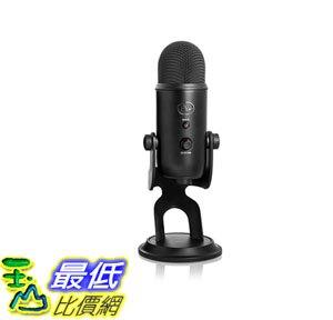[8美國直購] 全新 兩年保固 Blue Yeti USB Microphone 專業電容式 麥克風 黑色